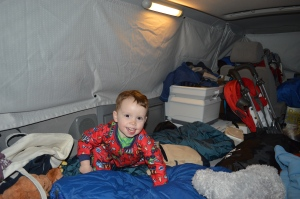 Van's First Night Camping in the Van
