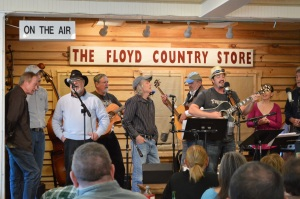 Listening to Americana Music on a Saturday Afternoon at the Floyd Country Store