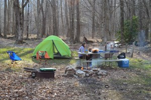 Camping Outside of Boone, NC