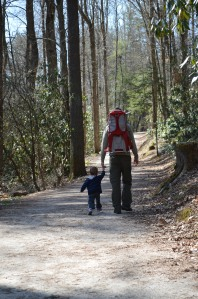 Hiking with Daddy