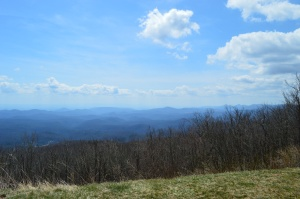View from Moses H. Cone Park along the Blue Ridge Parkway