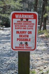 One of many, many signs like this that we saw in the park.