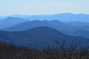 View from Rabun Bald, the second highest peak in Georgia