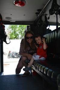 In an Emergency Response Vehicle at the Boulder Creek Festival
