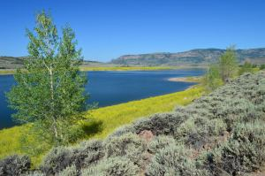 View of the Blue Mesa Reservoir from our Hike