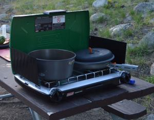 Our trusty camp stove, the source of most of our yummy dinners