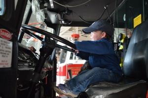 Manning the Leadville firetrucks
