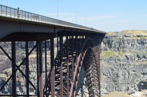 The Perrine Bridge with a BASE Jumper (if you squint)