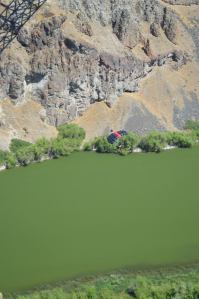 A Base Jumper after Jumping from the Perrine Bridge in Twin Falls, Idaho