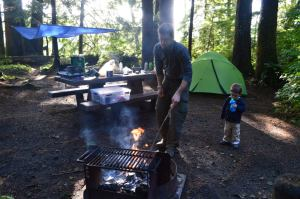 Our Site in Mora Campground, Olympic National Park