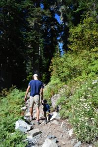 Bobby and Van Hiking to Snow Lake