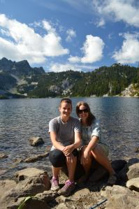 Me and Elizabeth at Snow Lake in the Central Cascades, Washington