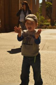 Clapping at the Palace of Fine Arts, San Francisco