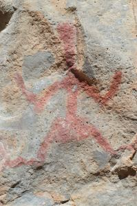 Pictograph on the Rocks in Gila Cliff Dwellings National Park