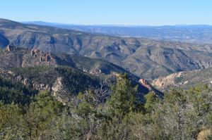 On the High Road from Silver City to Gila Cliff Dwellings in New Mexico